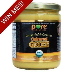 Weekly Giveaway: Grassfed Organic Cultured Ghee (14 oz) ~ $23.95 Value | The Coconut Mama