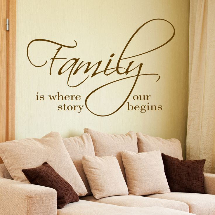Family Is Where Our Story Begins Wall Decal Quote Part 94