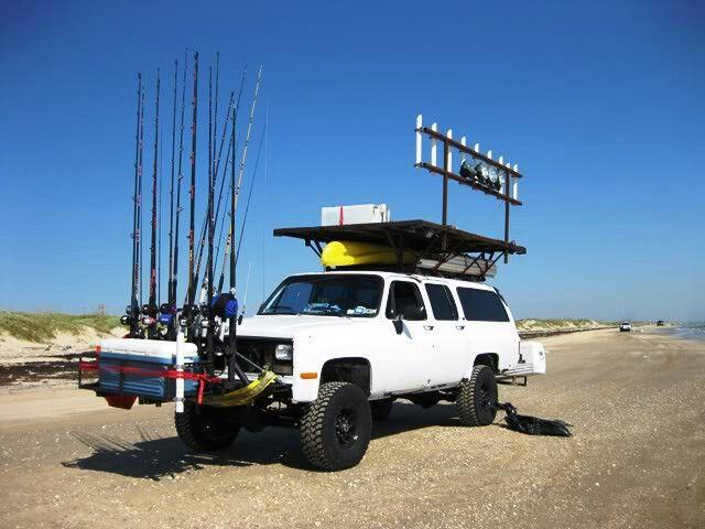 16 best rod racks images on pinterest surf fishing rod for Fishing rod rack for truck