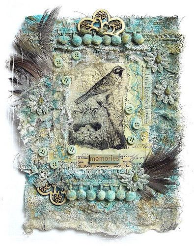 memories | fabric and paper collage | saray-viola | Flickr