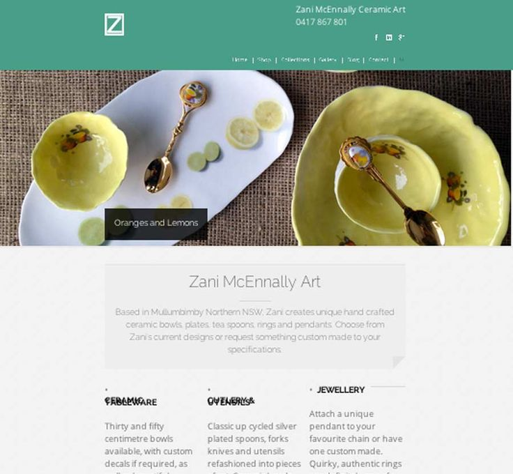 Zani McEnnally is a online shopping cart and gallery for ceramics.  Designed and Developed by Wordpressit 2013.