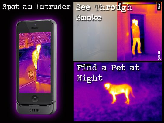 Thermal Imaging Camera Case For The iPhone 5 and 5s