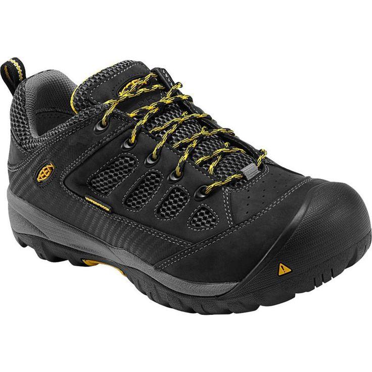 Keen Men's Tucson Low Waterproof Steel Toe Work Shoes, Black