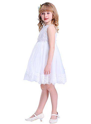 c3cb4f52fec Bow Dream Flower Girl s Dress Lace Off White 2T Bow Dream https   www