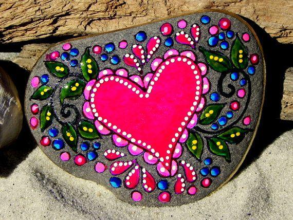 Amor de cuento de hadas / Painted Rock / Sandi por LoveFromCapeCod