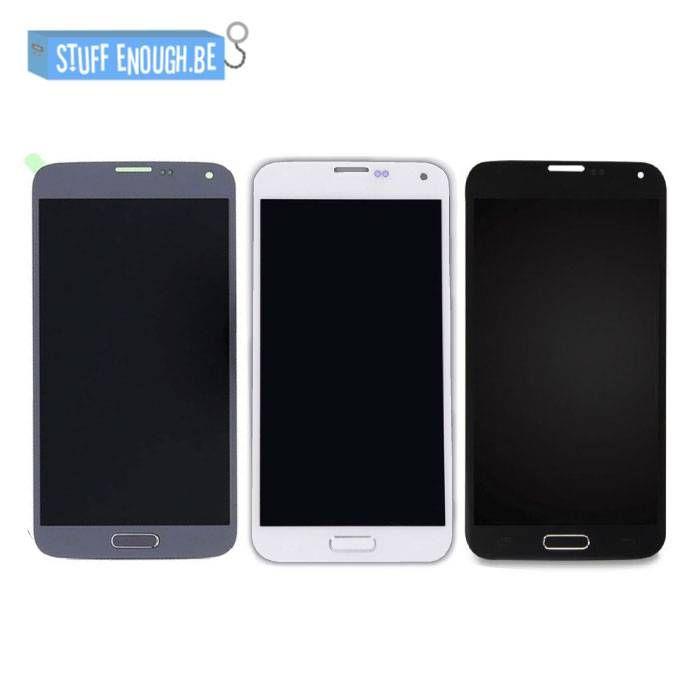 Galaxy S5 i9600 AAA+ LCD scherm Blauw/Zwart/Wit