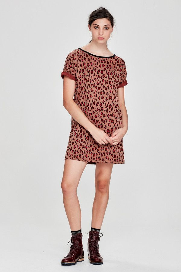 Sylvester by Kate Sylvester - Leopards Spots Shift Dress Caramel