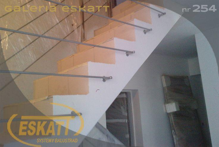 Stainless steel horizontal railing #balustrade #eskatt #construction #stairs