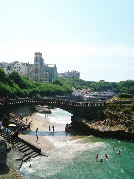 beach in the south of france biarritz