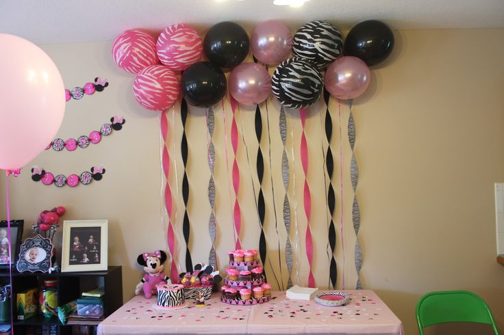 Balloon backdrop! DIY! Twisted some streamers, tapped balloons to the wall and left ribbon to fill in the gaps between streamers!!! CHEAP CHEAP CHEAP but oh so cute!
