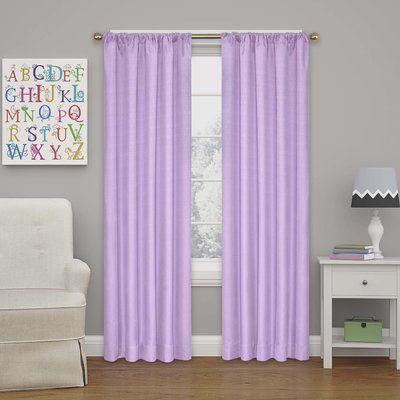 Charlton Home Columbia Blackout Single Curtain Panel Color: Light Purple