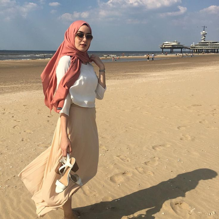#nofilter #beach #hijabfashion #hijabandfab #voilechic