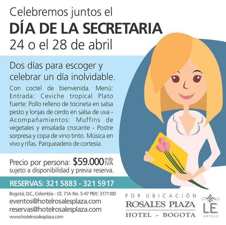 No deje pasar ésta fecha tan especial con un paquete sensacional. www.hotelrosalesplaza.com