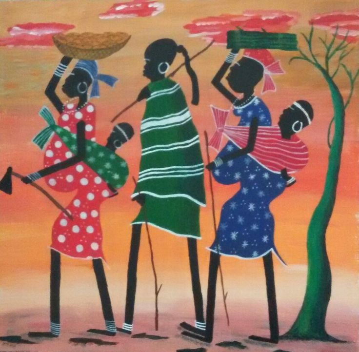 My painting African Women