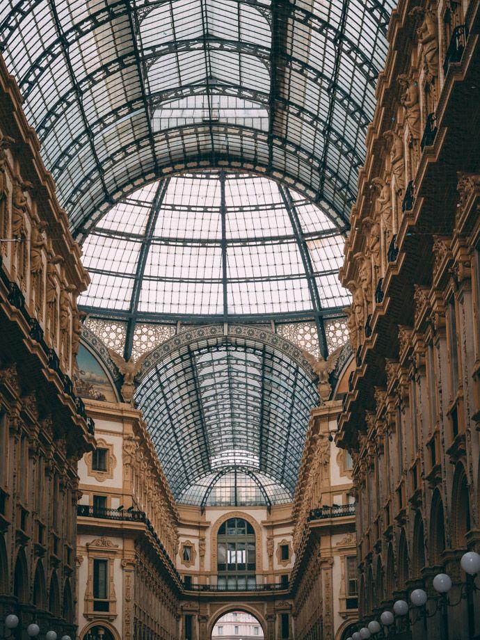 A guide to Milan Italy. Galleria Vittorio Emanuele II Milano. #milan #italy #travel #europe #europeholiday