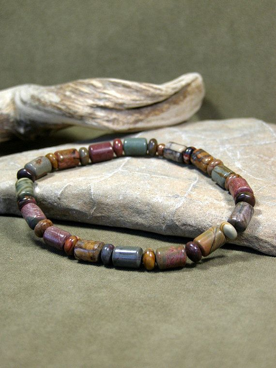 Mens Southwest Beaded Bracelet by StoneWearDesigns