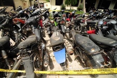 Polres Kebumen Akan Musnahkan Kendaraan Hasil Temuan yang Mangkrak di Mapolres