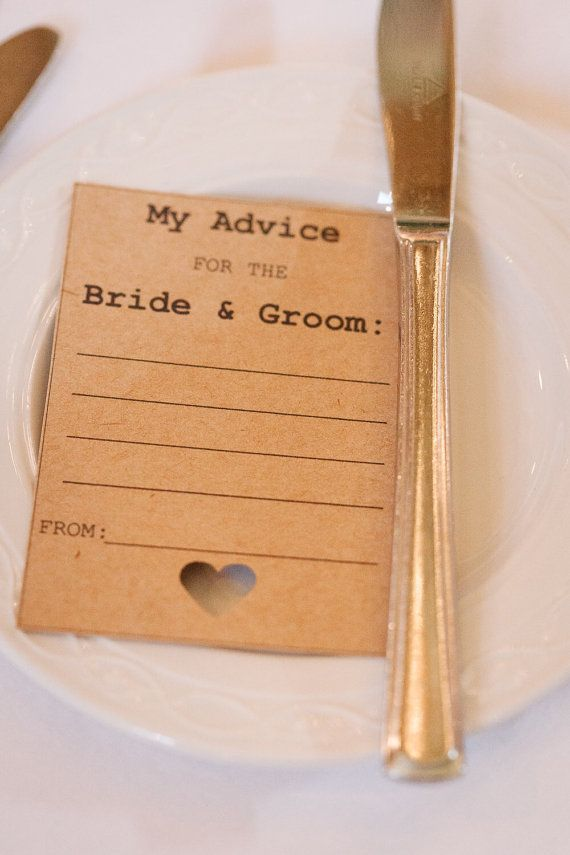25x A7 Wedding Advice Cards by CanIDoUAFavour on Etsy