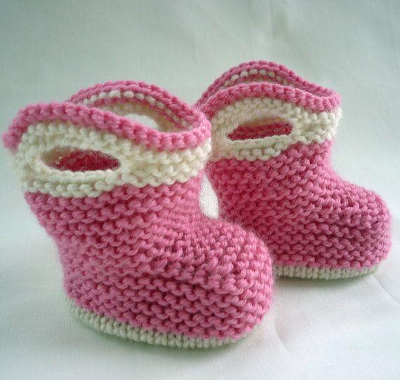 Knitting Pattern Baby Booties SPLISH SPLASH SPLOSH by LoveFibres