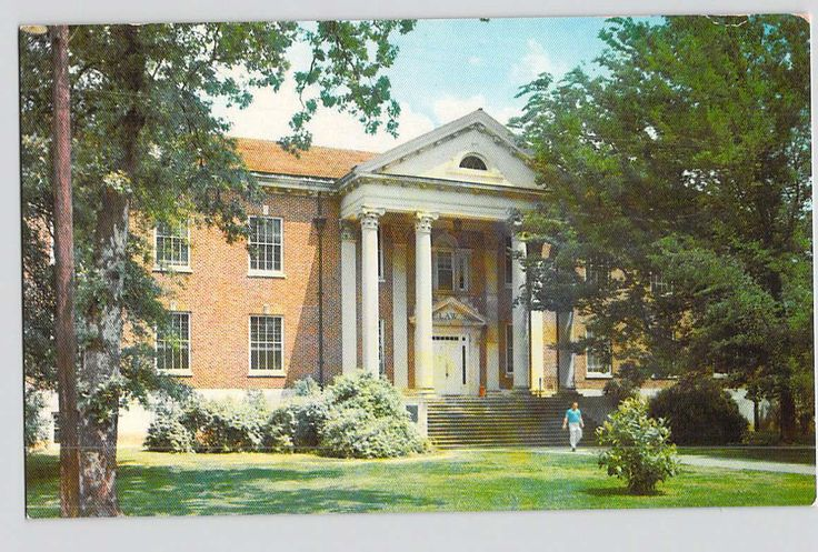 Columbus, Mississippi, MS, University of Mississippi, Lamar Hall, Vintage Postcard