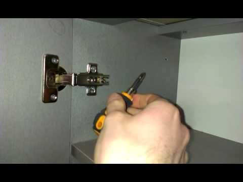 Как отрегулировать дверцы шкафа и мебели. Регулировка петель самому,