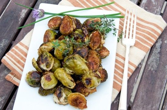 Brussels sprouts roasted with balsamic vinegar is easily my favorite way to have them.  It's quick, simple and tasty.