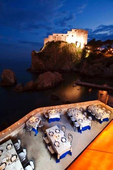 Location, location, location: The Nautika restaurant in Dubrovnik. Romantic restaurants around the world - TelegraphLuxuryUK
