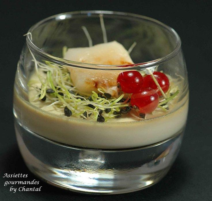 Panna cotta de foie gras et Saint-Jacques - Assiettes gourmandes by Chantal !