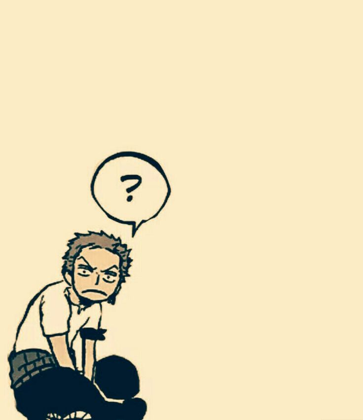 Zoro with a question mark it fits him perfently