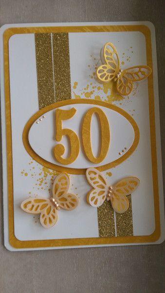 Geburtstag – Karte,Geburtstag,goldene Hochzeit,Hochzeit, A5 – ein Designerstück von Mein-Kreativpoint bei DaWanda – Jana Pufka