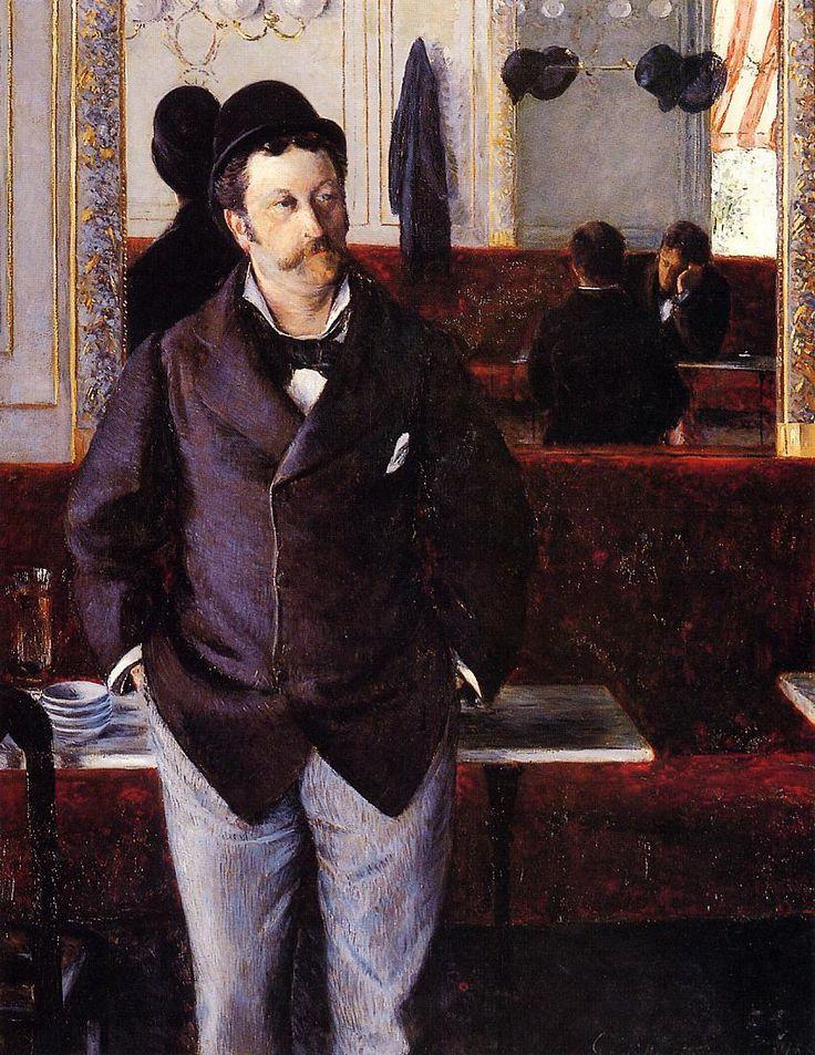 Gustave Caillebotte, Dans un café, 1890. Rouen, musée des Beaux-Arts.