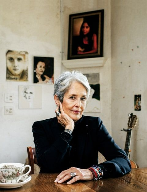 Joan Baez, 76 - She opens up about her relationship with Dylan, her life in protest, how she overcame paralyzing phobias, and more, at the click.