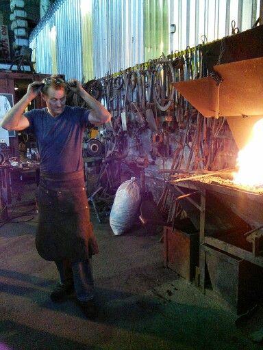 Conrad Hicks workshop visit
