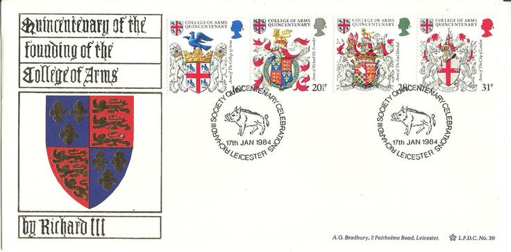 Quincentenary of the Founding of the College of Arms First Day Cover 7th Jan '84