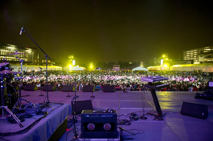 Vista de la pista desde el escenario