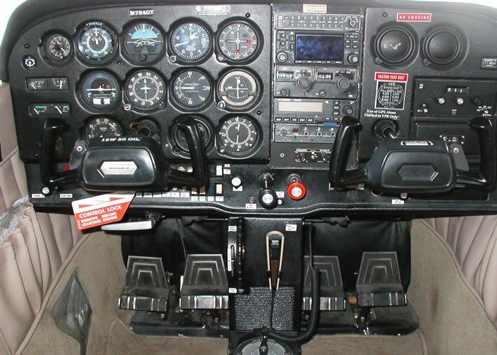 Cessna 172 cockpit interior  Click the image to get a free e-book