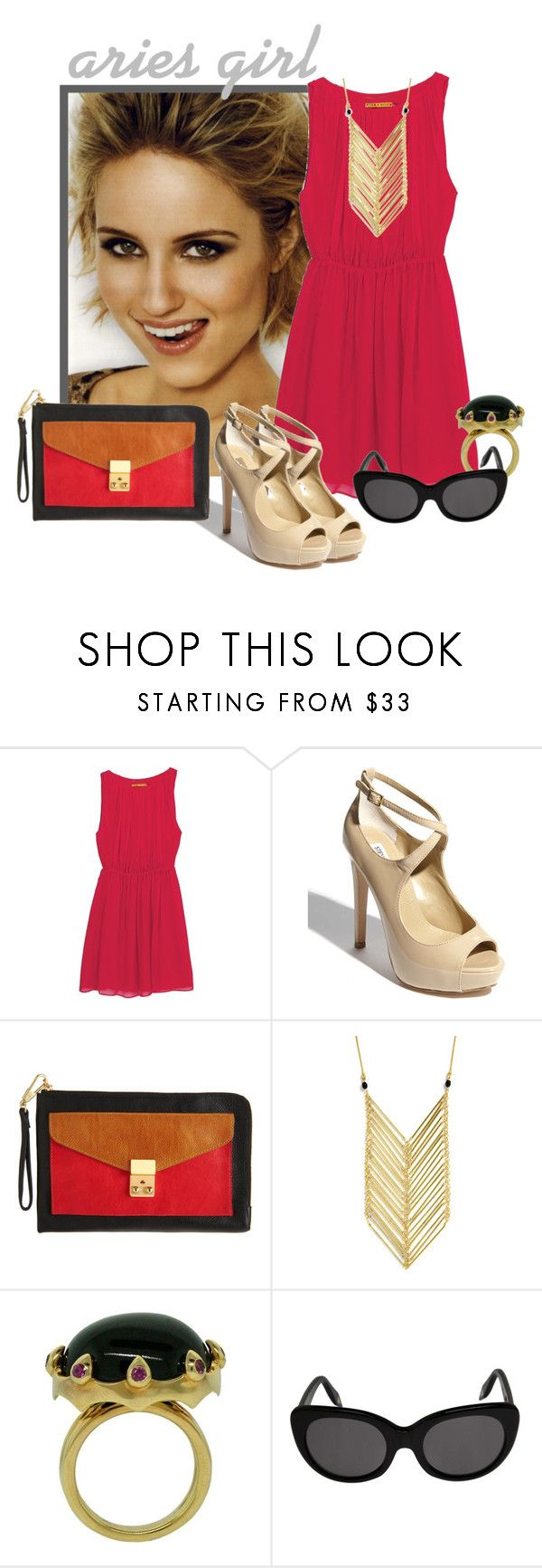 """""""Aries Girl"""" by shelliquinn ❤ liked on Polyvore featuring Alice + Olivia, Steve Madden, 3.1 Phillip Lim, Jayce Wong and Victoria Beckham"""