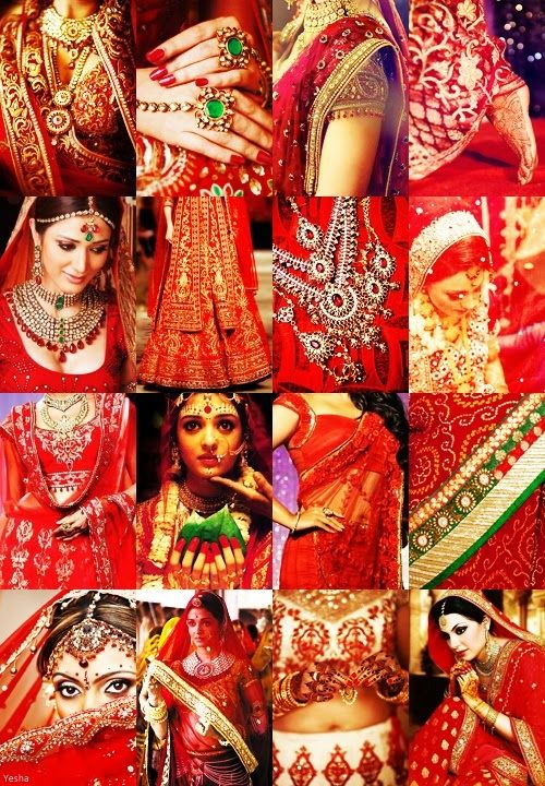 Solah shringar - the 16 adornments of the Hindu bride. Doesn't necessarily apply to Bengali weddings (much more pared down) but it's interesting to learn about, anyway!