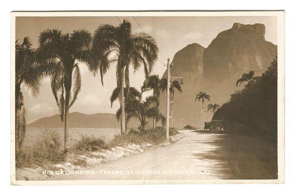 Cartão Postal: Rio de Janeiro - Trecho da Avenida Niemeyer. MBC.