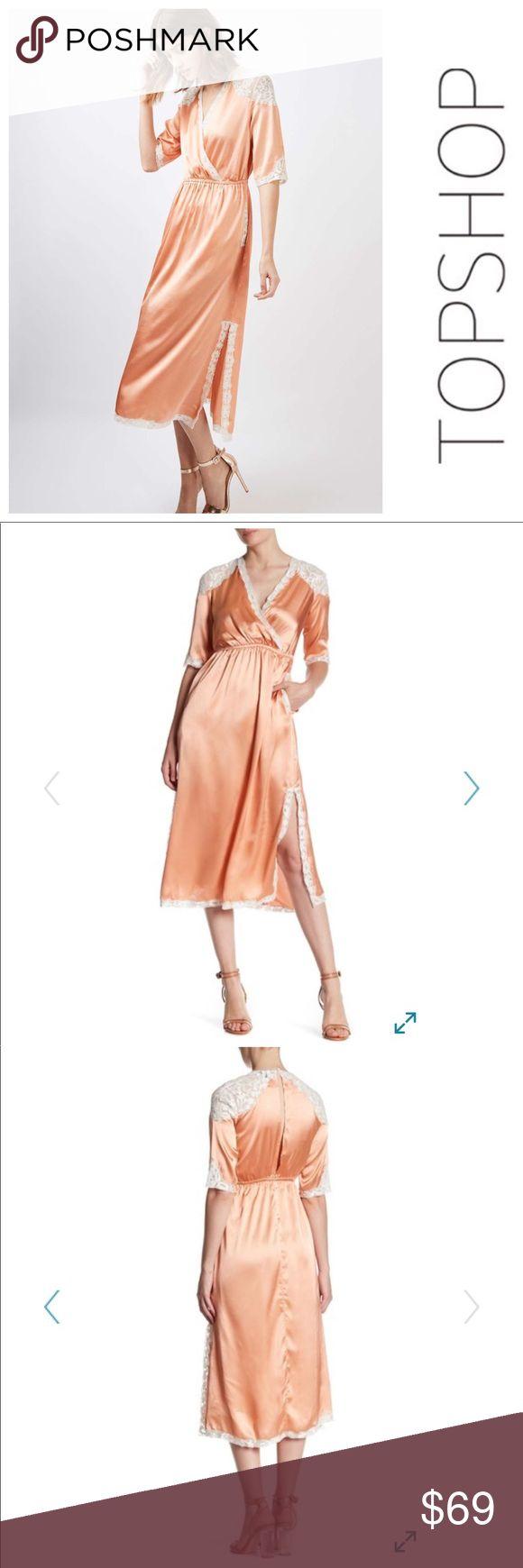 💕SALE💕NWT Topshop Lace Insert Satin Dress Gorgeous 💕NWT Topshop Lace Insert Satin Dress Topshop Dresses