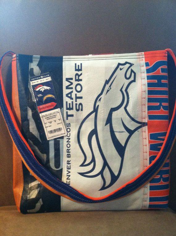 Denver Broncos party | Love Broncos orange game day Denver purse party game day bag NFL