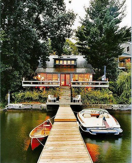 a home on a lake