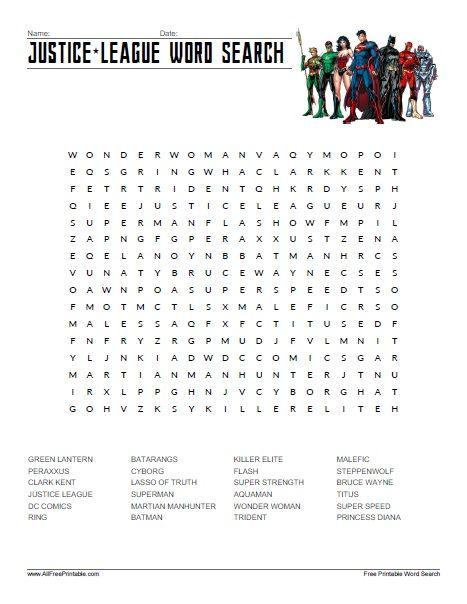 Printable Superhero Villains