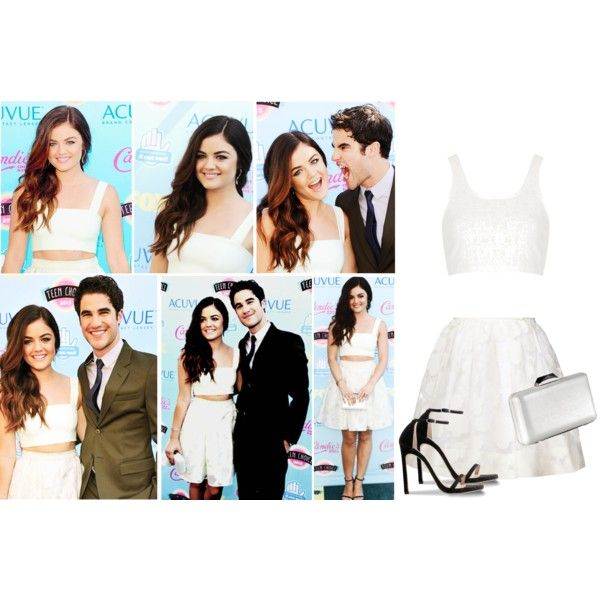 Lucy Hale-TCA 2013 by silvana-loli-olivas on Polyvore featuring moda, Topshop, Orla Kiely, KOTUR and Stuart Weitzman