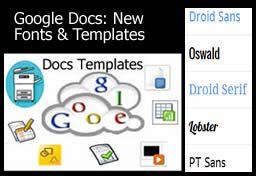 Google Docs - New Fonts and Templates