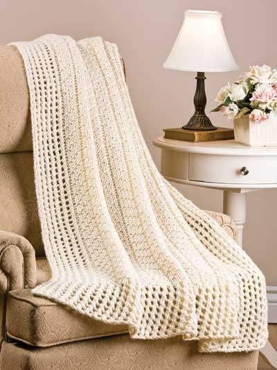 Chevron Knitting Pattern Afghan : Little Chevron Rib Afghan - This finely textured afghan ...