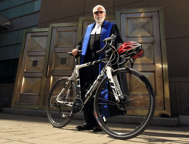 Calgary Judge Vic Tousignant rides his #yycbike to work nearly every day in Calgary.
