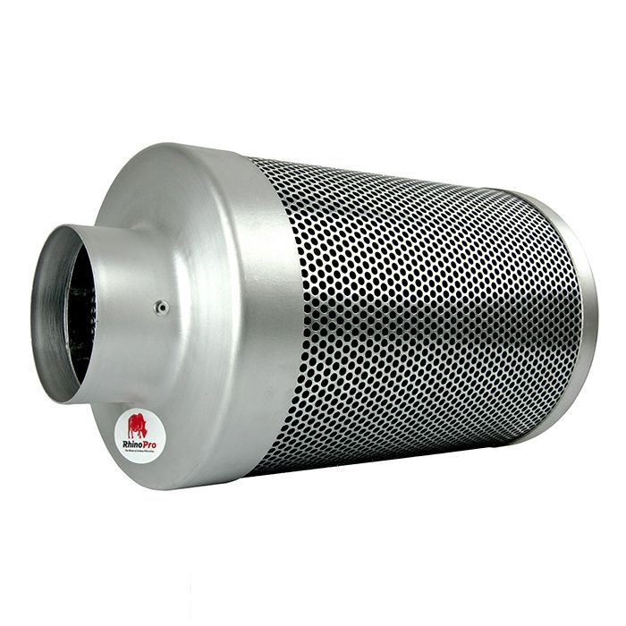 The 4 inch carbon filter from Rhino Pro is suitable for use with both low-power and high-power fans. It is important that you match the air flow rates of your fans and carbon filters as failing to do so will result in less effective odour control and can dramatically reduce the lifespan of both components.