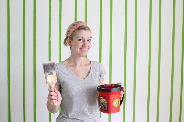 Home Improvement: Everything you need to know about painting walls, Vertical Stripes, Paint tools, and a little Crown Molding   MADE