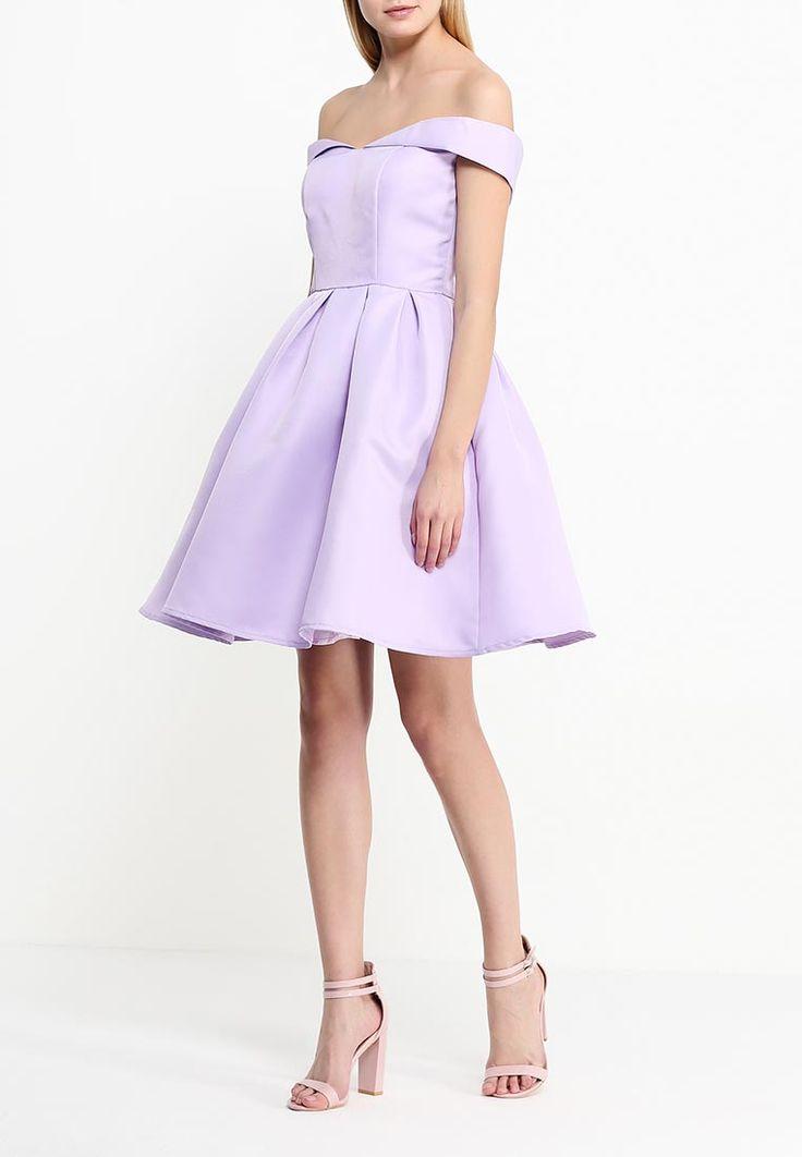 Нежное лиловое платье с оголеными плечами.Пышная юбка.